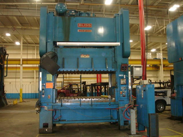 Affordable Machinery 200 Ton Bliss Press Straight Side