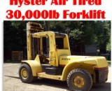 30,000lbs. Hyster H300-A Air-Tired Forklift 1