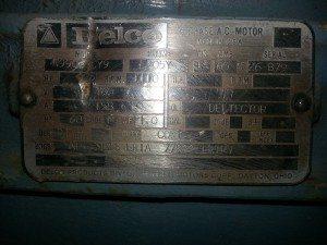 125 HP Delco Electric Motor 3