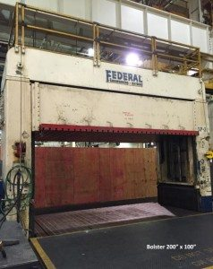 150 Ton Federal Hydraulic Spotting Press For Sale (Big Bolster) 2