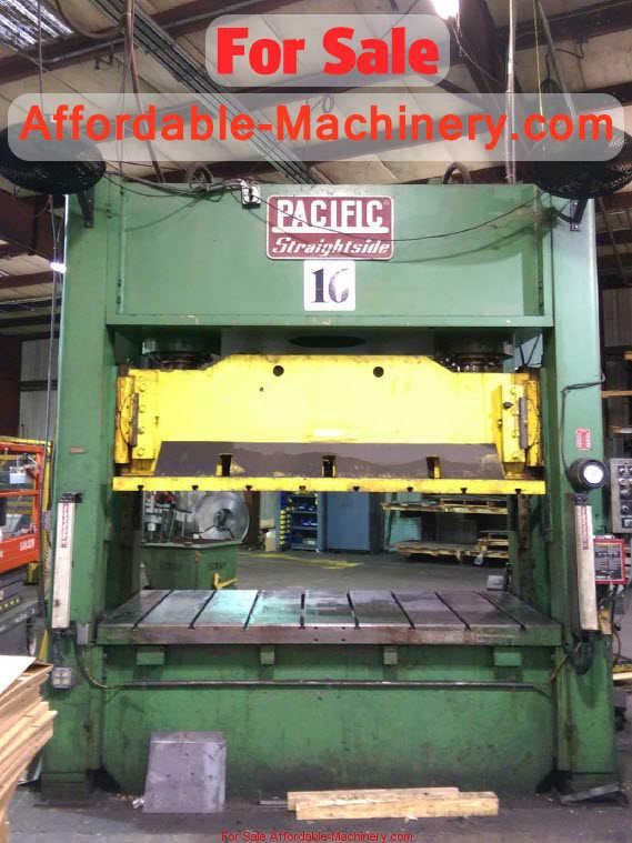 200 Ton Pacific Straight Side Hydraulic Press For Sale