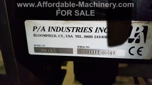 6000lb Servo Feeder PA Industries For Sale