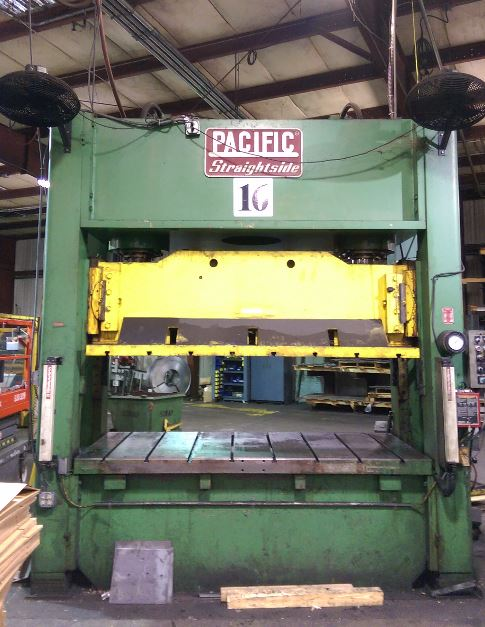 200 Ton Capacity Pacific Straight Side Hydraulic Press For