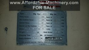 250 Ton Minster Press For Sale (2)