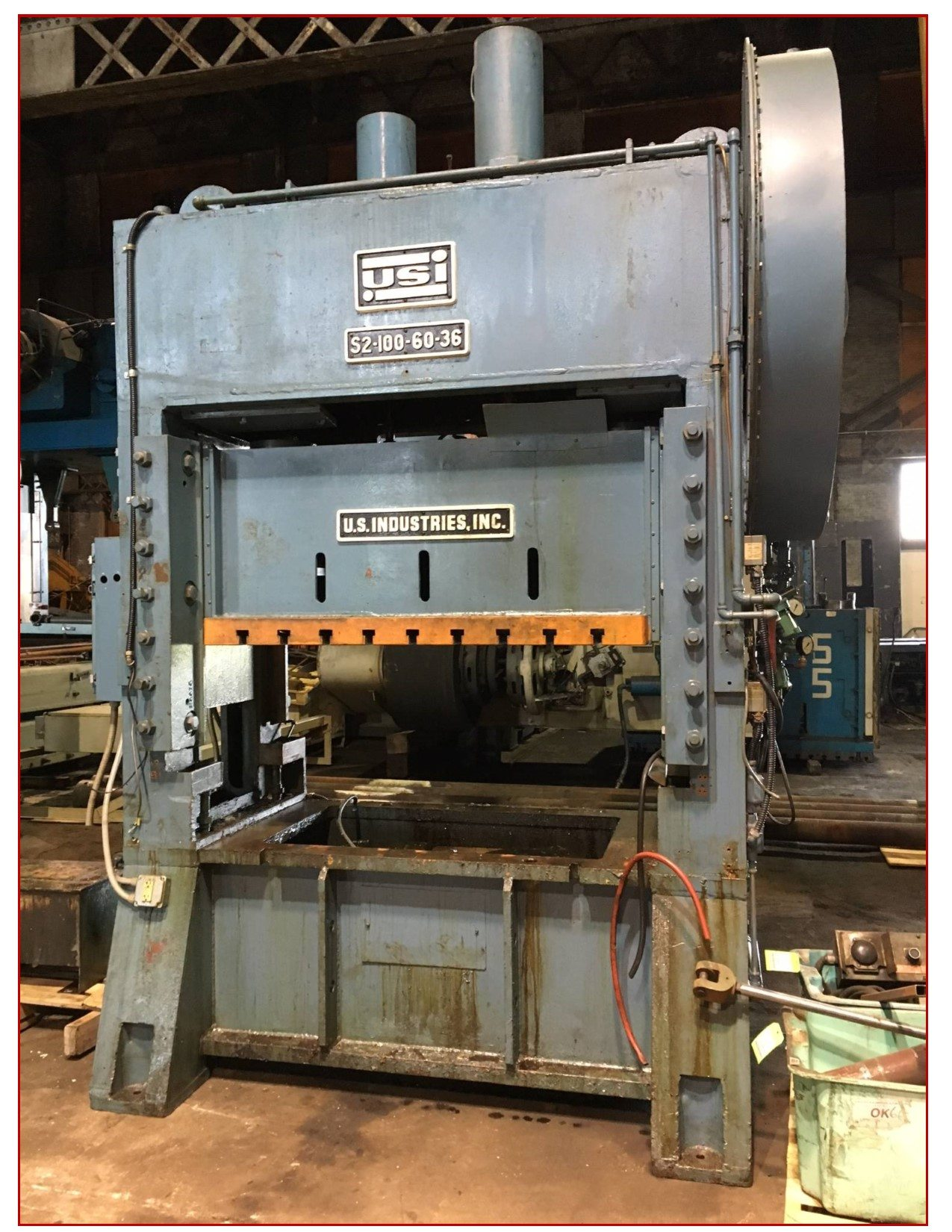 100 Ton Capacity Usi Clearing Press For Sale Call 616