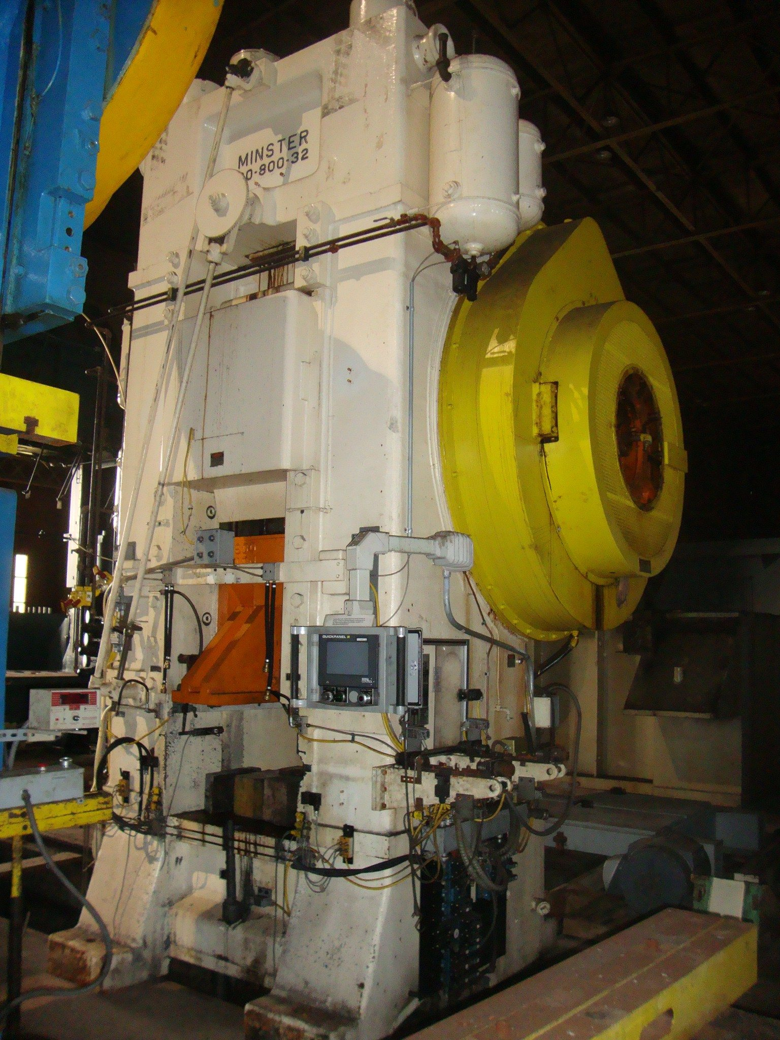 800 Ton Minster Press - Knuckle Joint Metal Stamping Punch Press For