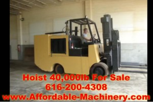 40,000lb Hoist Forklift - Solid Tired For Sale