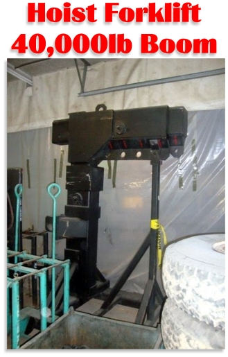 40,000lbs. Hoist Forklift Boom For Sale