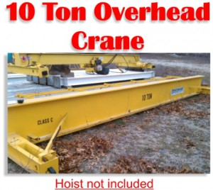 10 Ton Stewart Overhead Bridge Crane