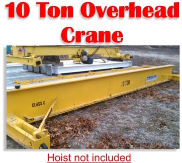 10 Ton Stewart Overhead Bridge Crane For Sale