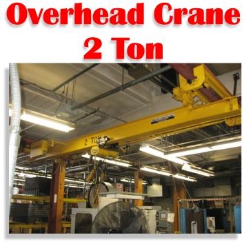 2 Ton Beacon Overhead Bridge Crane For Metal
