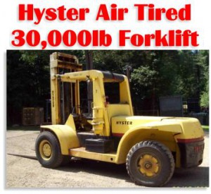 30,000lbs. Hyster H300-A Air-Tired Forklift For Sale