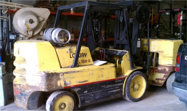 Lowry Forklift 17,000lb Capacity For Sale
