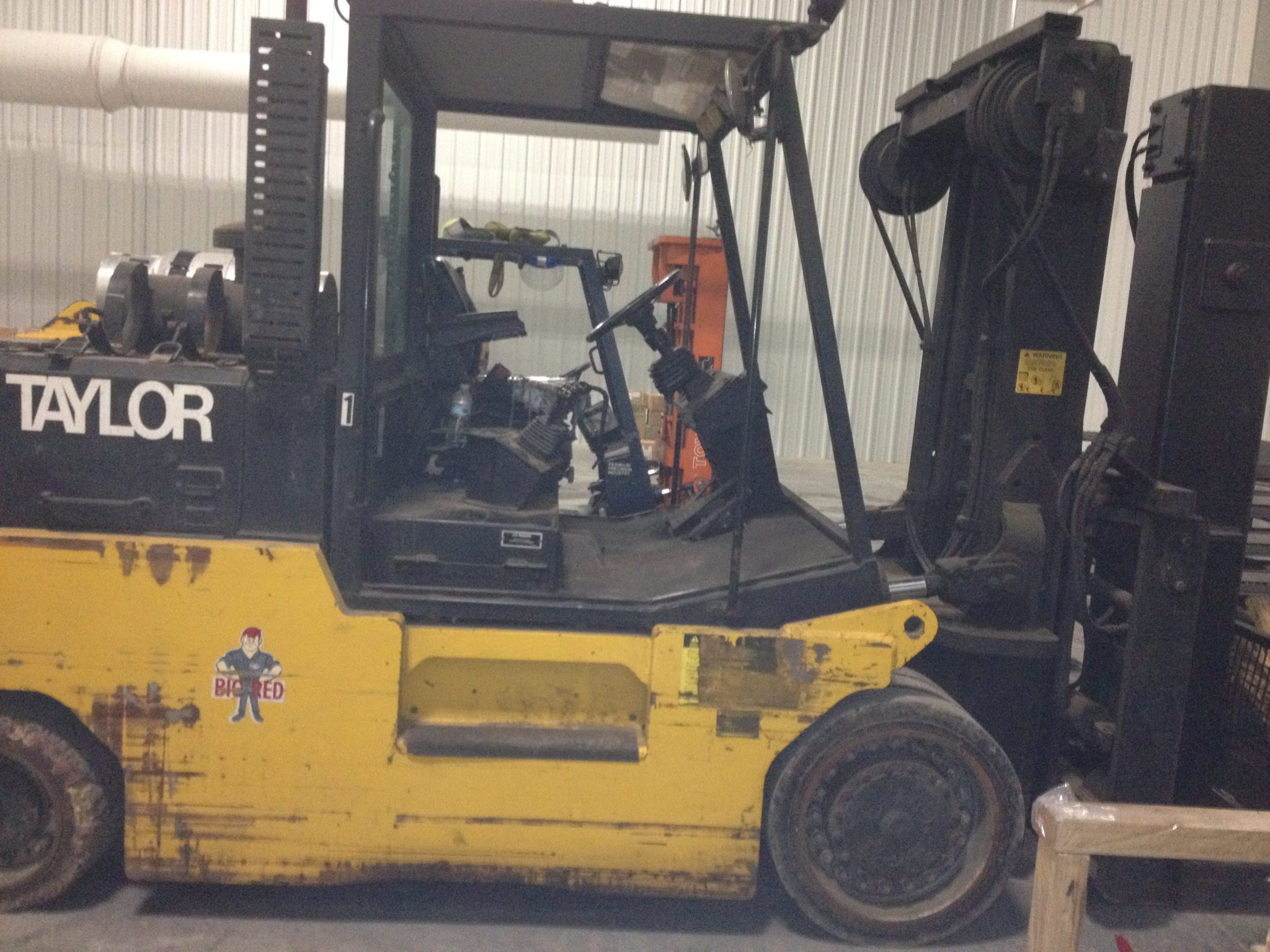 30 000lbs taylor t 300 forklift for sale call 616 200 rh affordable machinery com Big Red Fork Lift Taylor Big Red Fork Lift Taylor