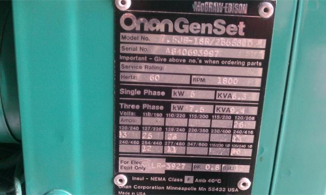 Mcgraw Edison Onan Genset Manual