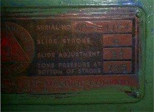 135 Ton Minster Press 1