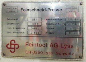 Feintool Press pic 2
