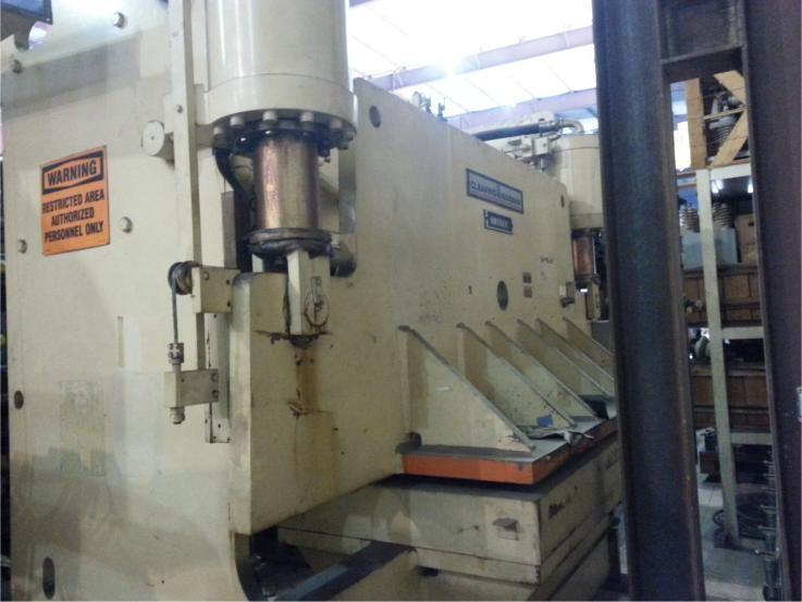 Clearing Niagara Flange Bed Press Brake pic 2