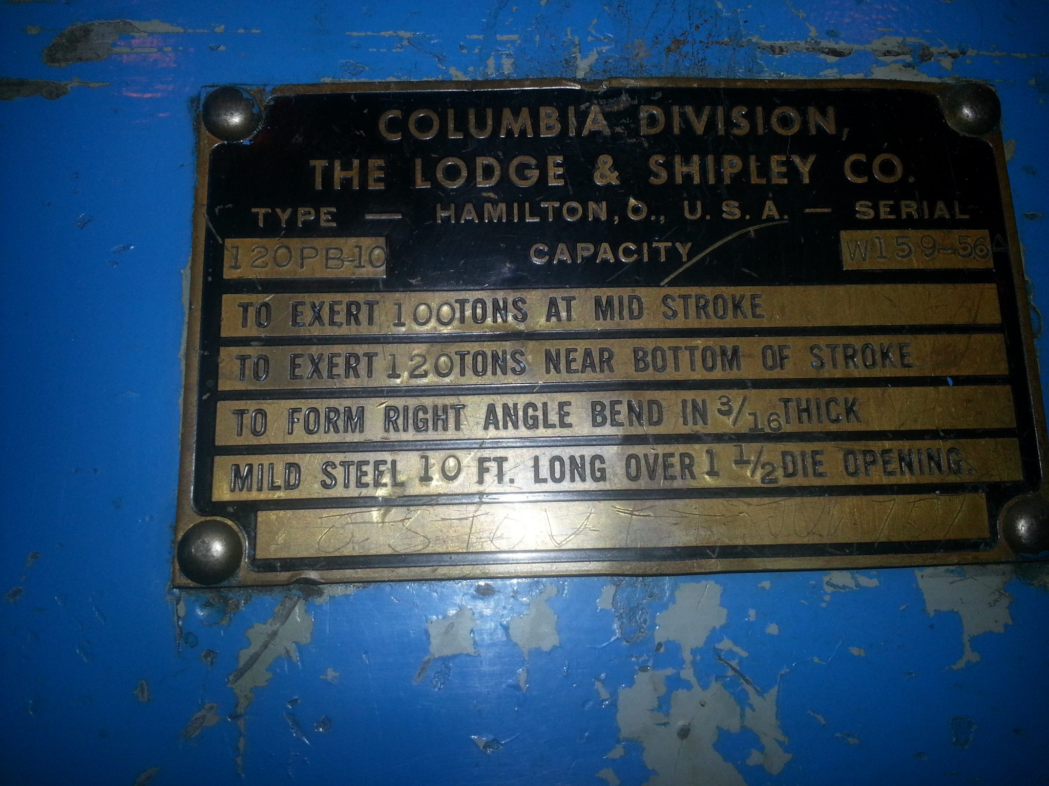 Lodge and Shipley Press Brake 2