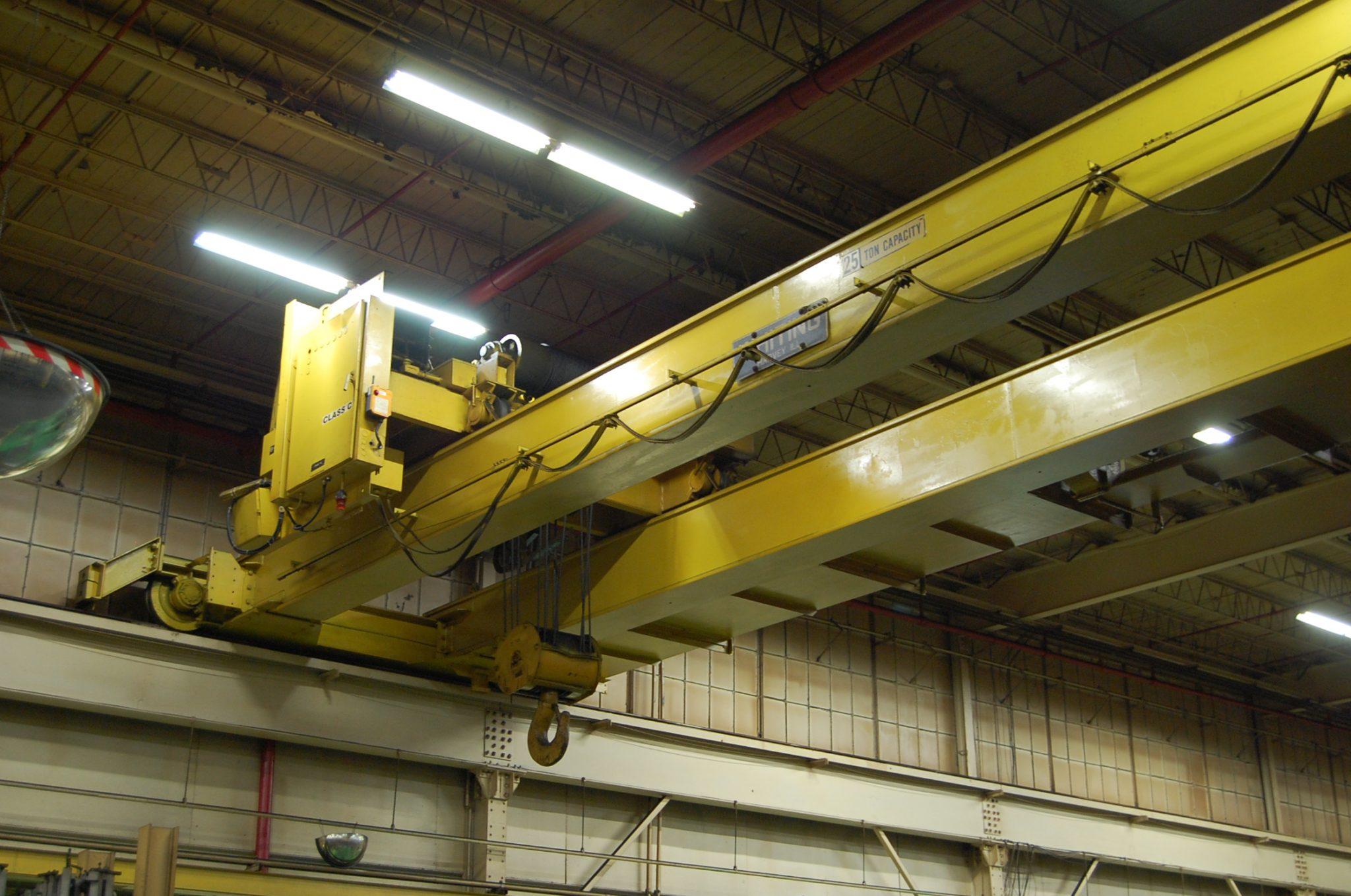25 Ton Whiting Overhead Bridge Crane For Sale