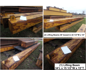 gantry lifting beams and runway for sale