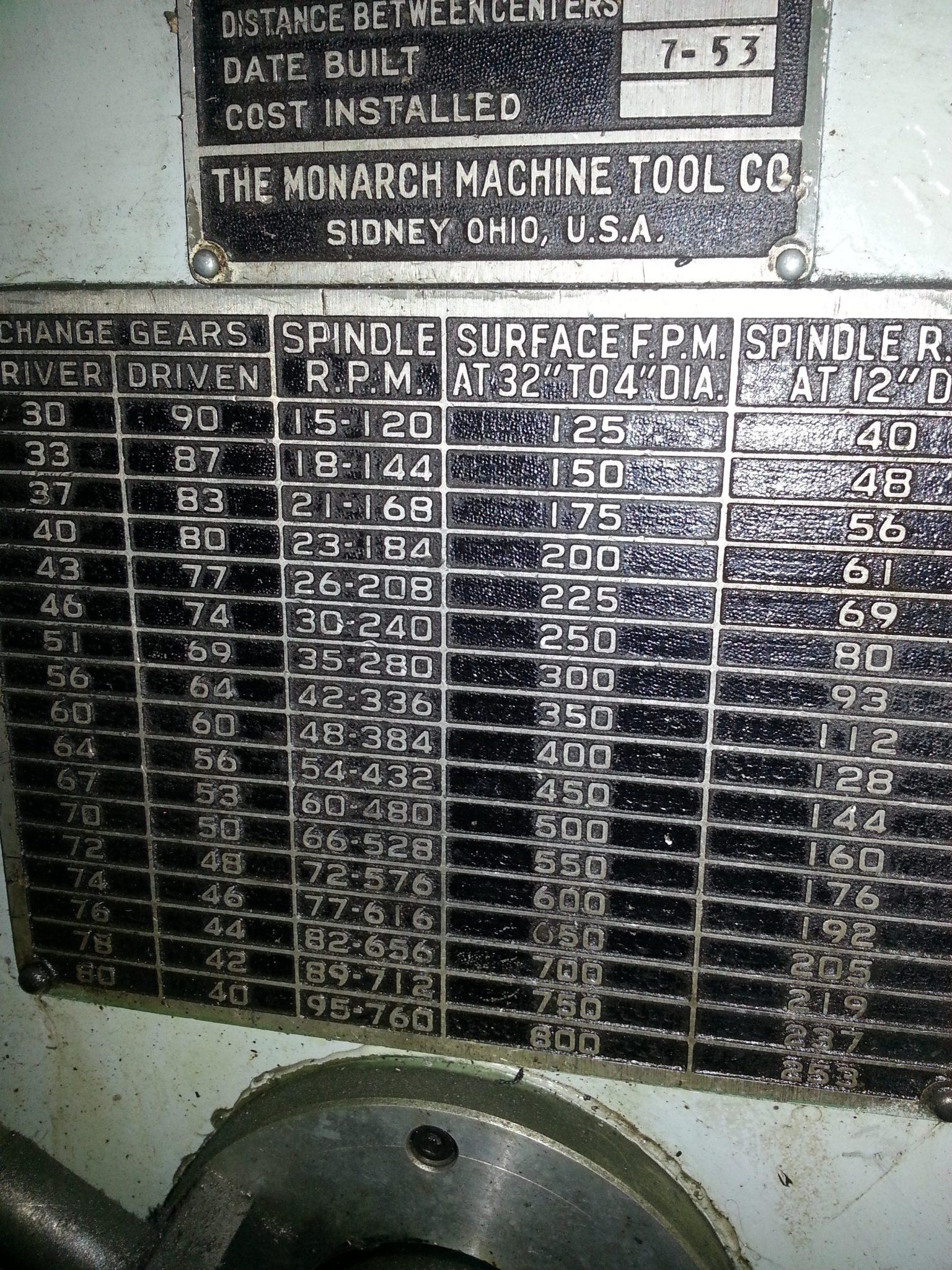 Monarch T Lathe 36 inch 11
