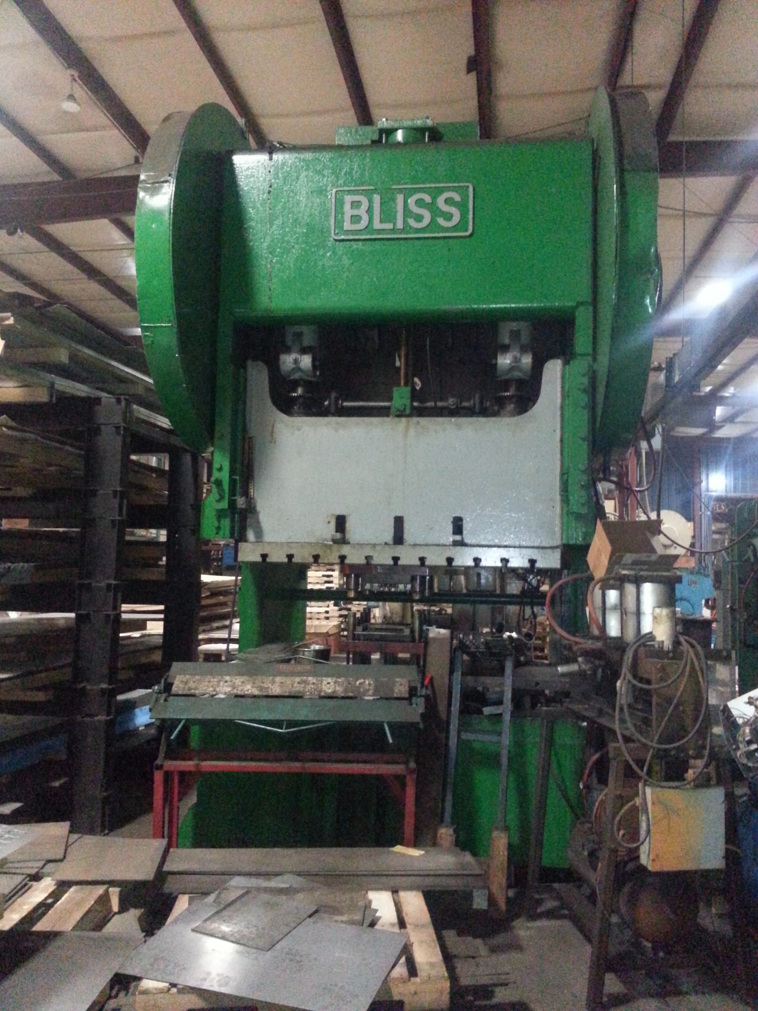 225 Ton Bliss Gap Frame Press For Sale