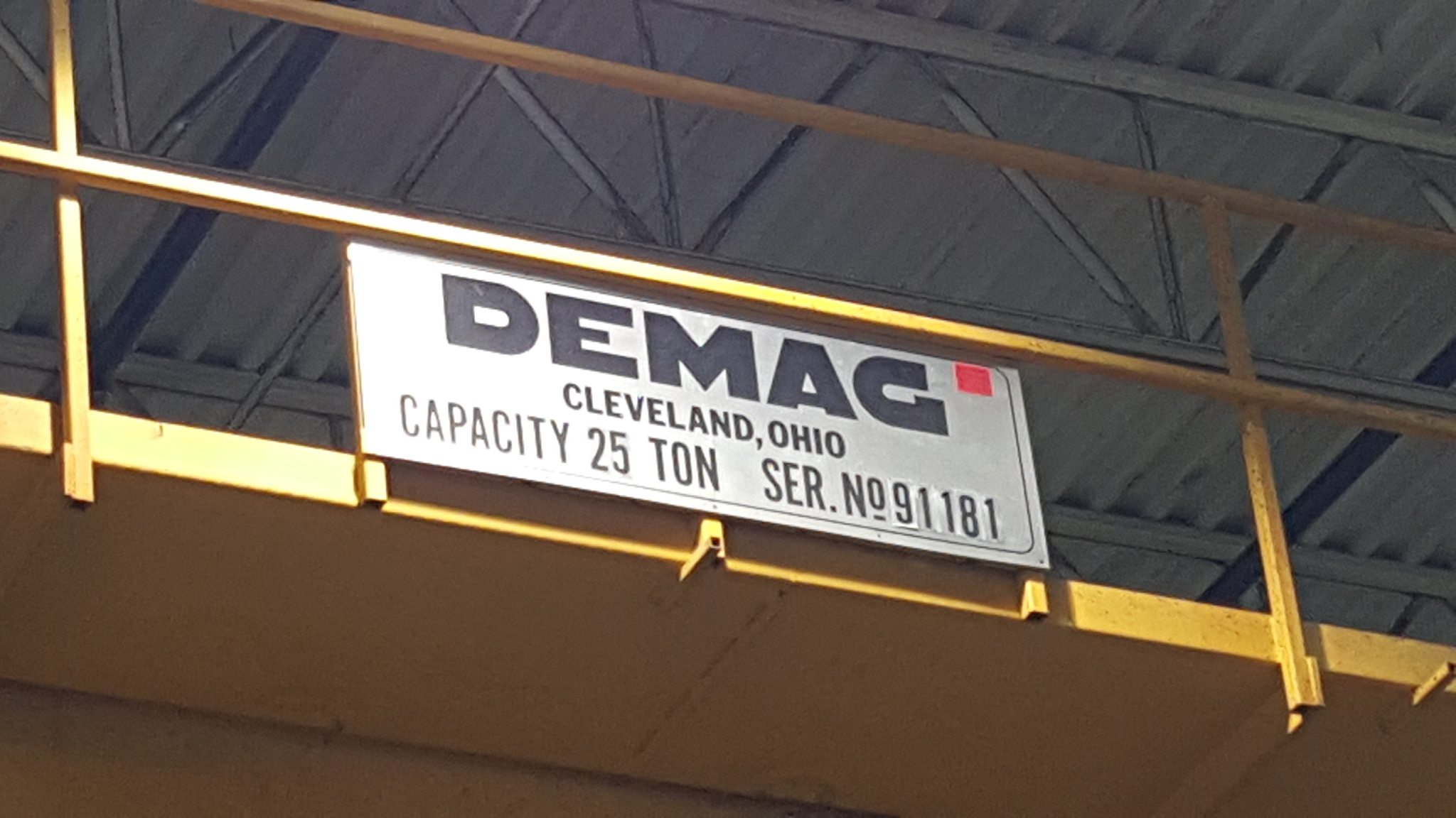 25 Ton Demag Overhead Bridge Crane For Sale (1)