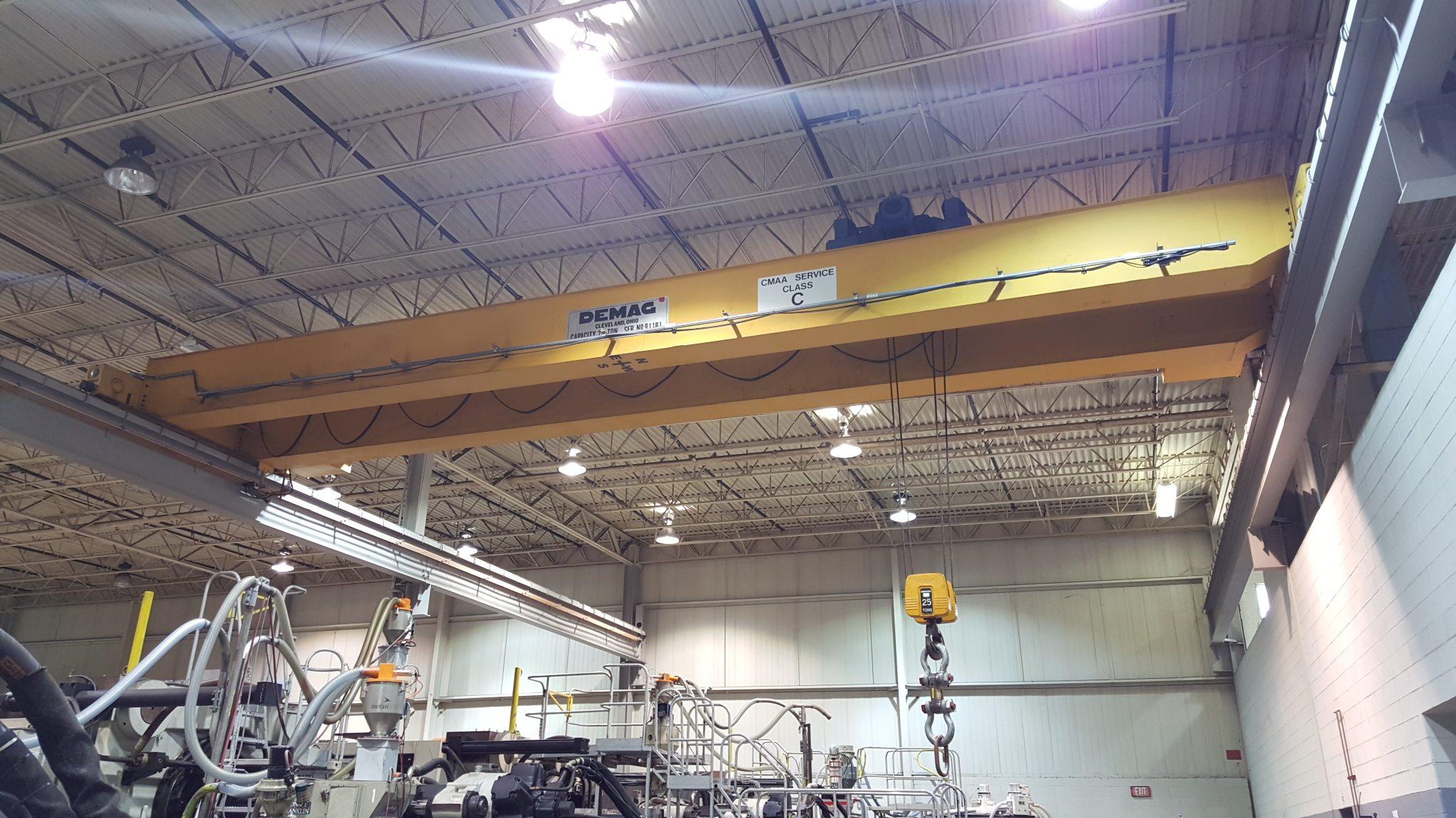 25 Ton Demag Overhead Bridge Crane For Sale