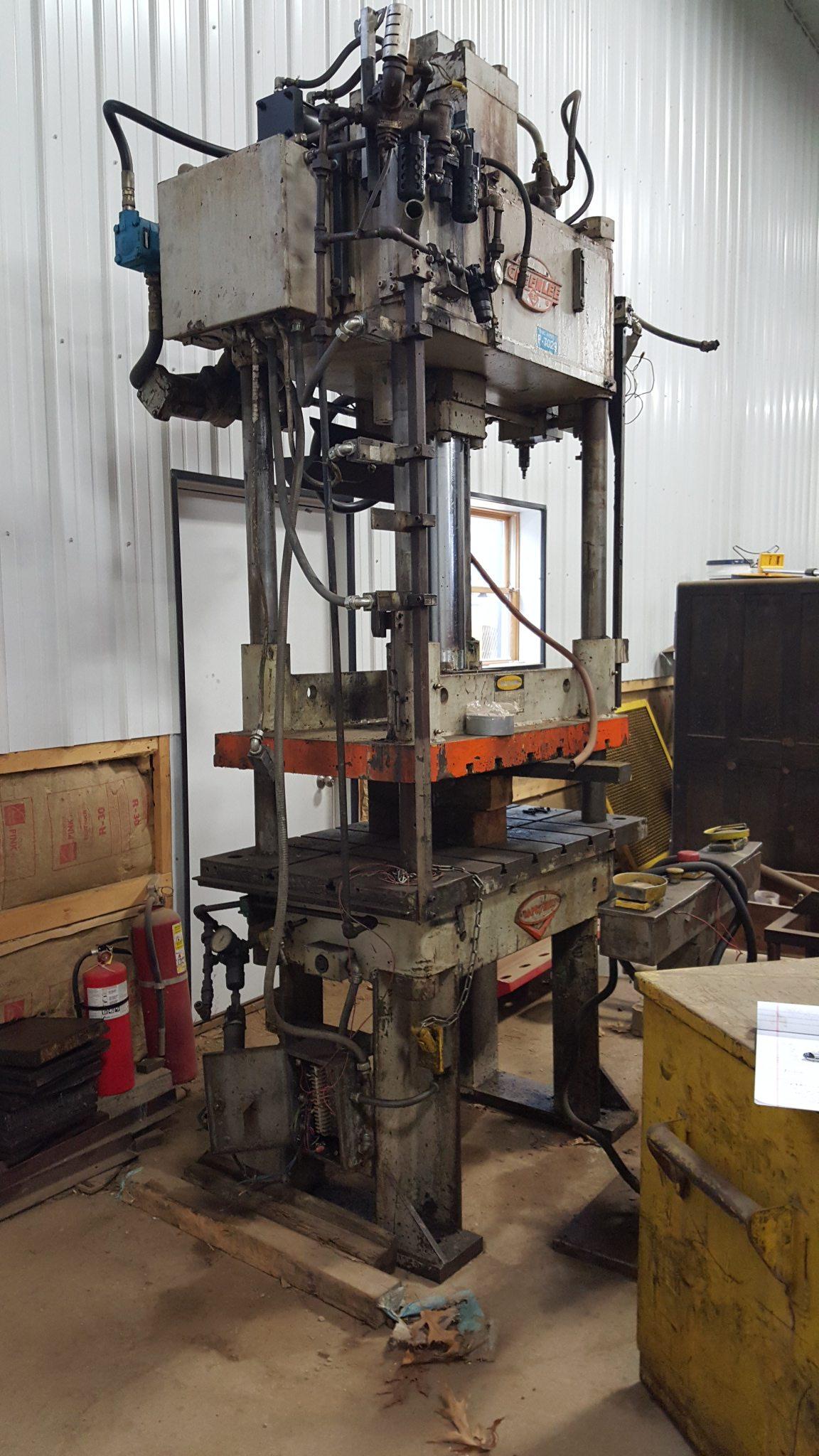 50 Ton Capacity Greenard 4-Post Hydraulic Press For Sale