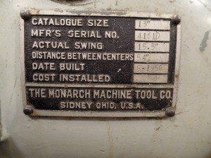 Monarch 13x54 Lathe For Sale