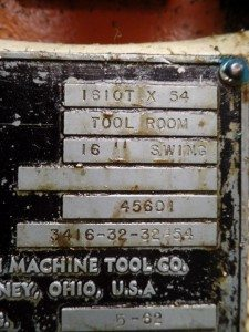 Monarch Tool Room Lathe 62 1610x54