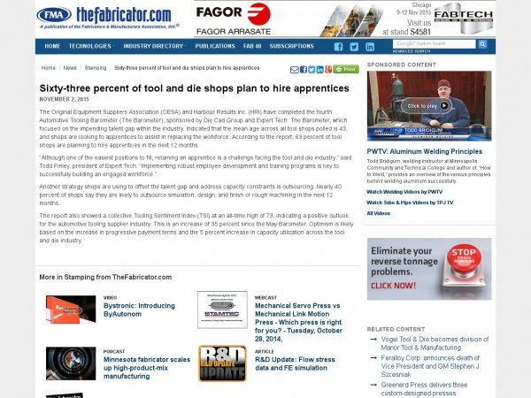 http://www.thefabricator.com/news/stamping/sixty-three-percent-of-tool-and-die-shops-plan-to-hire-apprentices