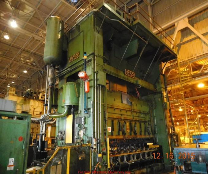 1,000 Ton Capacity Verson Straight Side Press For Sale (5)
