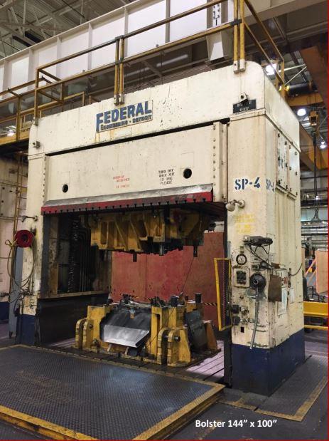 150 Ton Federal Hydraulic Spotting Press For Sale