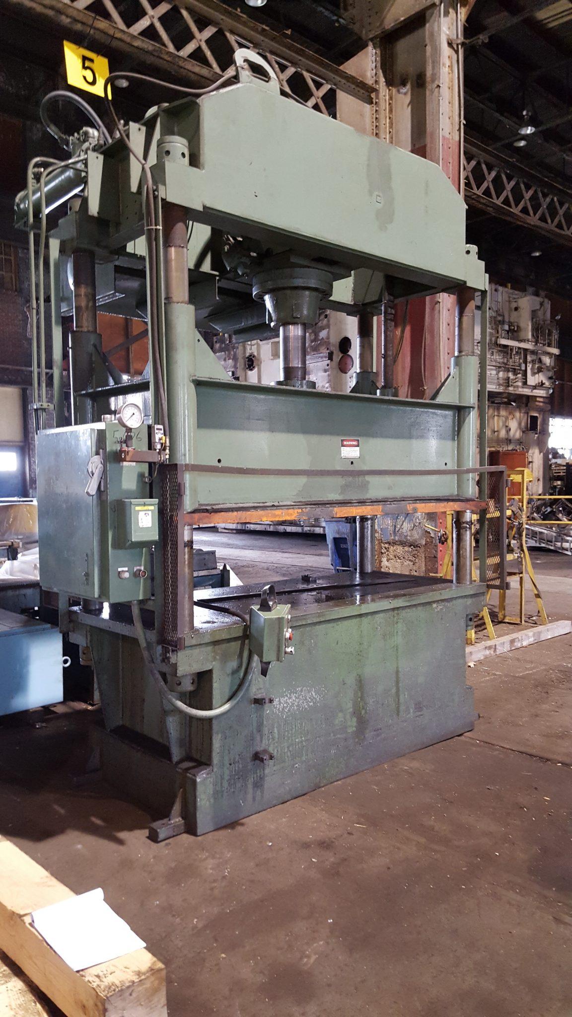 100 Ton Dake 4-Post Down-Acting Hydraulic Press For Sale