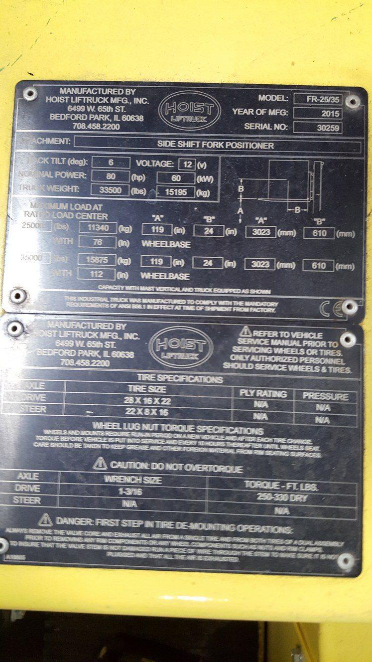 25,000lb. to 35,000lb. Hoist Forklift For Sale (7)