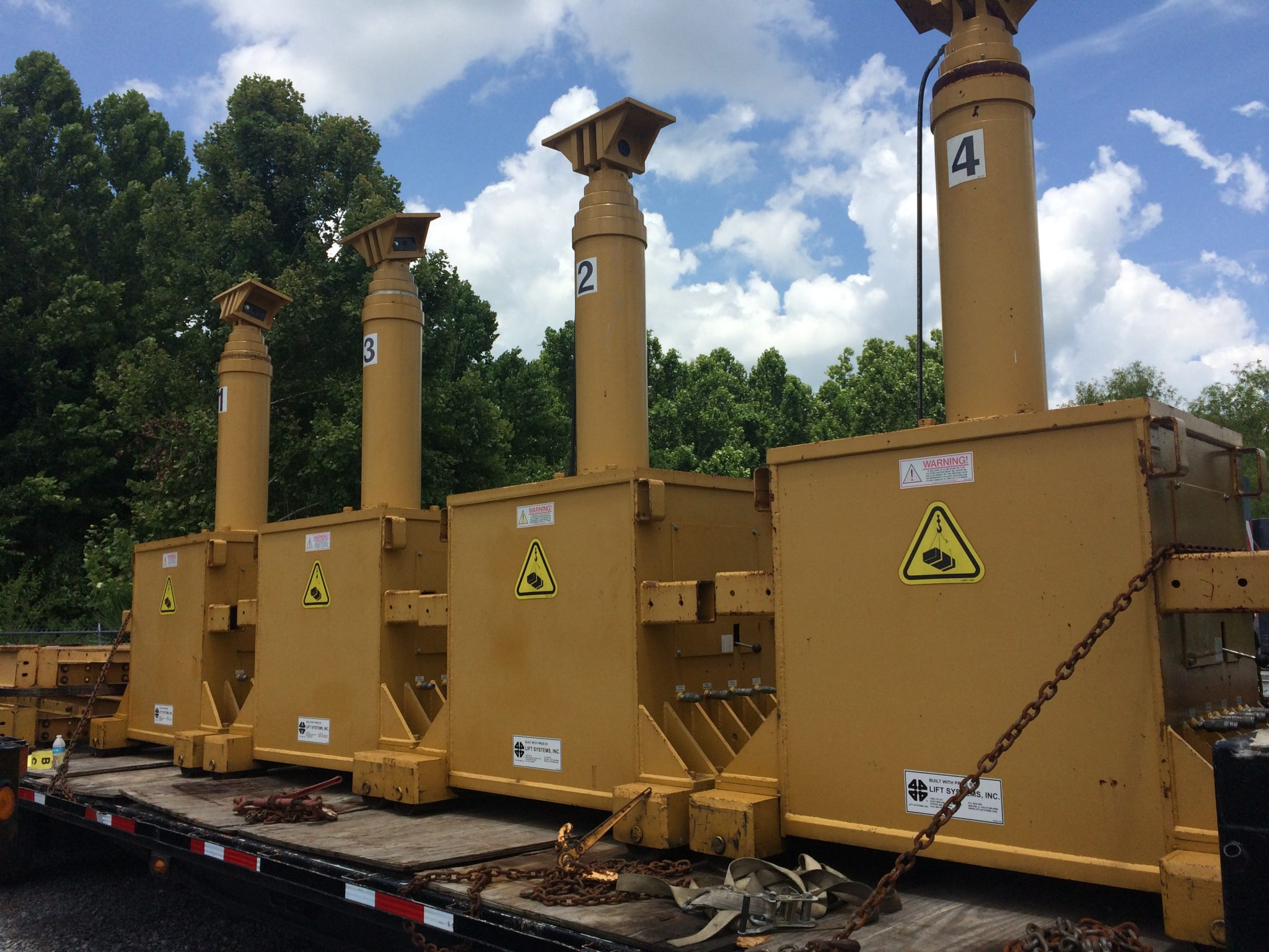 400 Ton Capacity Lift Systems 4-Point Hydraulic Gantry For Sale