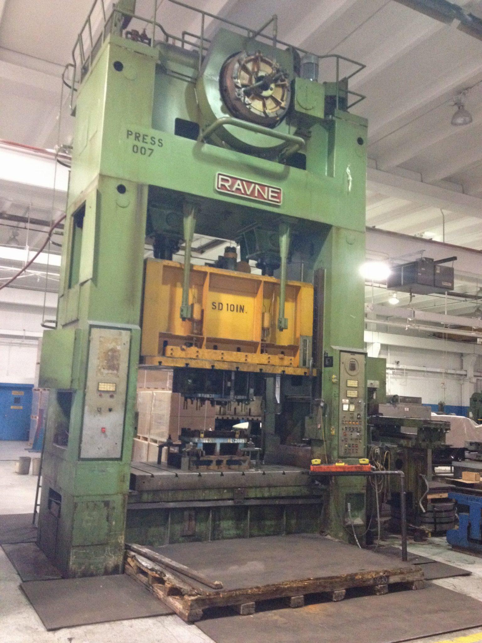 350 Ton Capacity Ravne Straight Side Press  For Sale