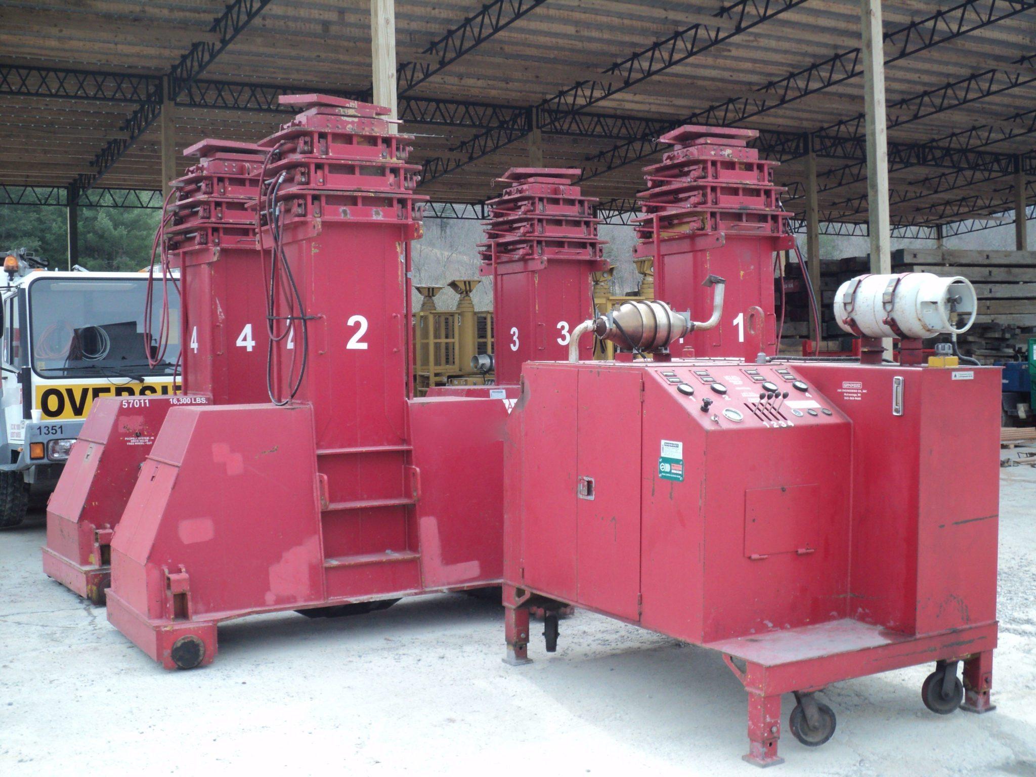 600 Ton Capacity J & R Lift-N-Lock Hydraulic Gantry System For Sale