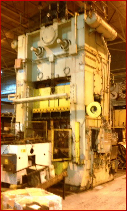 300 Ton Capacity Usi Clearing Straight Side Press For Sale
