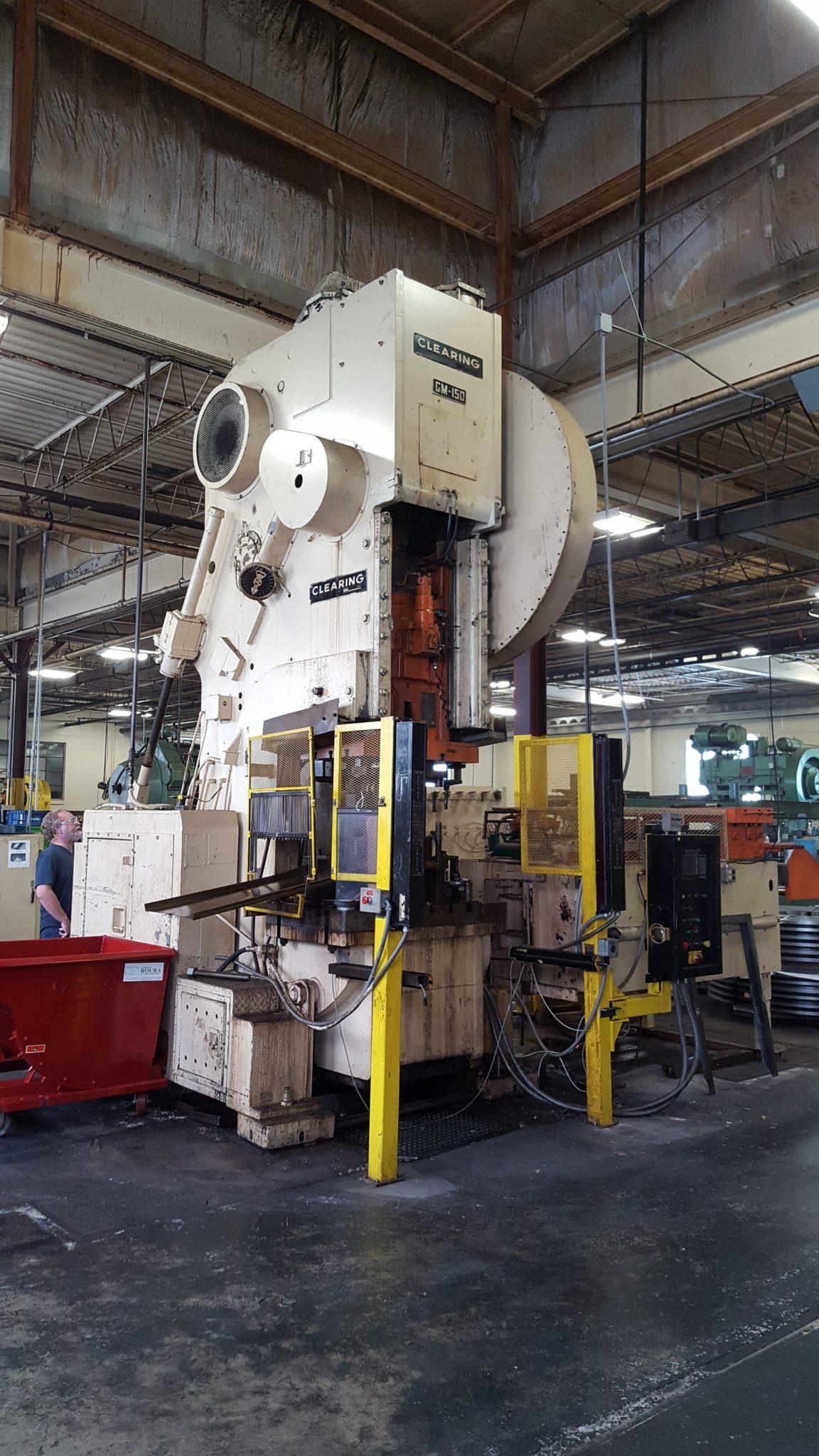 150 Ton Capacity Clearing O.B.I Press For Sale