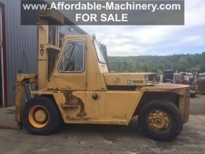 25,000lb. Capacity Cat Air-Tired Forklift For Sale 12.5 Ton