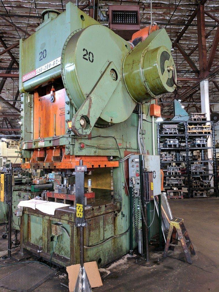 200 Ton Capacity Niagara Gap Frame Press For Sale