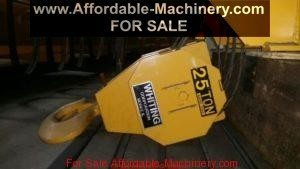 25 Ton Capacity Whiting Overhead Bridge Crane For Sale