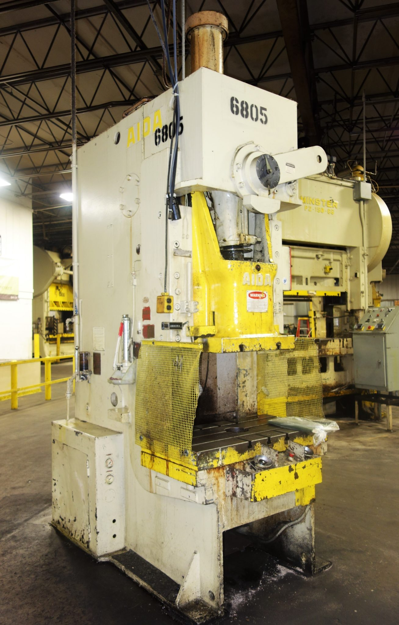 110 Ton Capacity Aida Single Point Gap Frame Press For