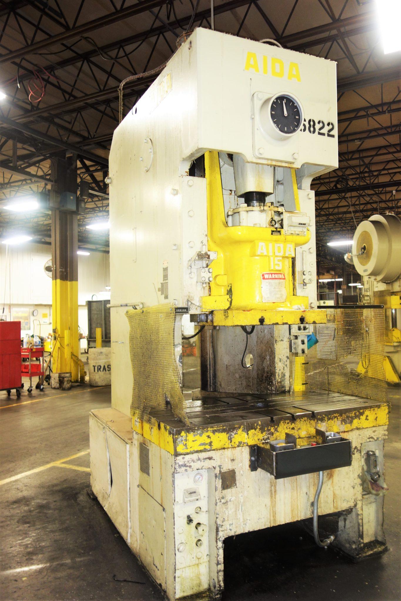 165 Ton Capacity Aida Single-Point Gap Frame Press For Sale