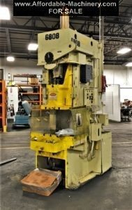 75 Ton Capacity Aida Single-Point Gap Frame Press For Sale - Used