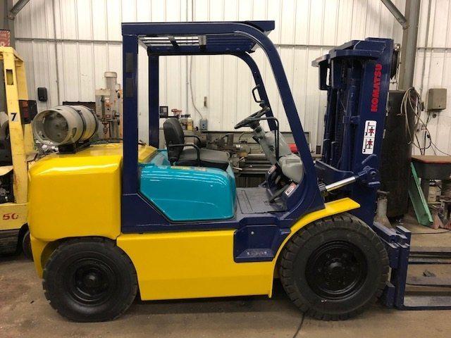 SOLD 8,000lb. Capacity Komatsu Forklift For Sale 4 Ton