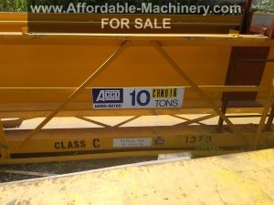 10 Ton Capacity Acco Overhead Bridge Crane For Sale